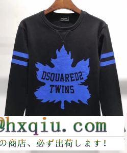 ディースクエアード セーター コピー 2019awカジュアルな着こなしに d squared2 メンズ ブラック ホワイト コーデ お買い得