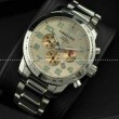 日本製クオーツVK 【Chopard】ショパール メンズ腕時計 6針クロノグラフ 日付表示 夜光効果 ステンレス 41.85mm