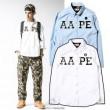 首胸ロゴ 2016春夏 a bathing APE ベイシングエイプ メンズ 長袖シャツ 2色可選