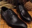 ルイヴィトン 通気性も抜群 レースアップ コンフォート ビジネス 靴  紳士用 メンズ ブラック.