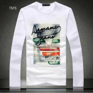 首胸ロゴ  2016秋冬 ARMANI アルマーニ 長袖Tシャツ 2色可選