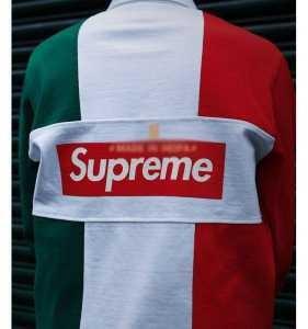 長袖ポロシャツ  個性的なデザ  supreme 17SS Split Rugby  3色可選