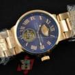 ULYSSE NARDIN ユリスナルダン 時計 マリーン クロノグラフ 男性用腕時計 メンズ ブルー ゴールド 人気 自動巻き ブレス