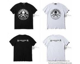 2017春夏 Mastermin Japan マスターマインドジャパン 通販 大人気 半袖 Tシャツ ブラック ホワイト コットン  プリント