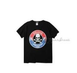 偽 ブランド Tシャツ メンズ スカル マスターマインドジャパンクールネック Mastermin Japan 半袖 Tシャツ 大特価100%新品 綿 ブラック メンズファッション
