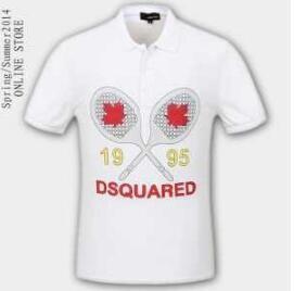 スーパー ブランド コピー DSQUARED2 Tシャツ コットン 品質保証新品 ポロシャツ ディースクエアード プリント 半袖 メンズ 人気 ブラック ホワイト 赤 コットン
