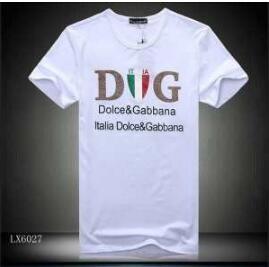 2018春夏 Dolce&Gabbana ドルガバ コピー クルーネック 大人気 メンズ 半袖Tシャツ ブラック ホワイト コットン ロゴ英字プリント 新作入荷最新作