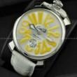 限定セール100%新品 ガガミラノ コピー 時計 マヌアーレ48MM メンズ ウォッチ 男性用腕時計 新商品 レザーベルト GaGa MILANO ホワイト