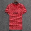 2018 春夏 半袖tシャツ Louis Vuitton × SUPREME シュプリーム ヴィトン tシャツ メンズ レディース ファッション  コットン ホワイト 黒 レッド 人気
