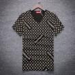 大人気 Louis Vuitton / SUPREME ヴィトン シュプリーム tシャツ メンズ  vネック半袖 Tシャツ レディース コットン 2018SS ホワイト 赤 ブラック ロゴプリント