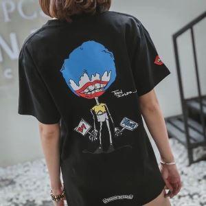 春夏数量限定低価CHROME HEARTSクロム ハーツ コピービッグシルエットtシャツ半袖大きいサイズ男女兼用2色可選
