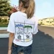 春夏限定セール新品CHROME HEARTSクロム ハーツ コピーバックプリントレディースメンズ綿半袖Tシャツ