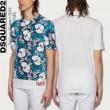 春夏品質保証定番DSQUARED2ディー スクエアー ド 偽物ハイビスカスTシャツ花柄総柄半袖S71GD0665S21600100