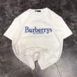 春夏超激得高品質BURBERRYバーバリー コピーリイシュードコットンTシャツ45476971カットソー半袖2色可選
