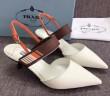 2018春夏プラダ コピーサンダルPRADA人気レザーレディース靴ホワイトシューズ女性らしいロゴ入りゴールドブラック好印象をゲット多色