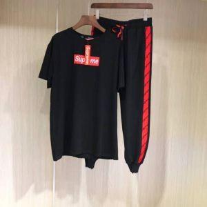 品質保証新作SUPREMEシュプリーム tシャツ半袖ロングパンツジャージスポーツウェア上下大きいサイズ2色可選