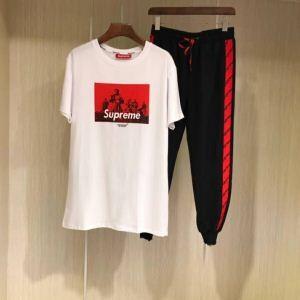品質保証定番SUPREMEシュプリーム コピーセットアップ上下セットアップ半袖tシャツロングパンツジャージ