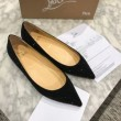 人気定番低価Christian Louboutinルブタン 靴 コピー走れるパンプスポインテッドトゥフラットシューズブラック