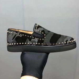 2018限定セール新品Christian Louboutinクリスチャンルブタン 靴 コピーカモフラ迷彩柄メンズスリッポンスニーカー