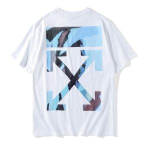 オフホワイト2色可選カジュアル 真夏のコレクション 半袖Tシャツ Off-White