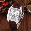 カルティエ 時計 コピーサントス ドゥ カルティエCARTIER腕時計スクエア四角シンプルフェイレザーベルト全6色