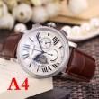 CARTIERロトンド ドゥ カルティエ コピー腕時計レザーベルトペアウォッチ生活防水6色可選2018人気定番低価