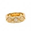 限定品CHANELシャネル リング コピーココクラッシュコレクション リングJ10864イエローゴールドホワイトゴールドダイヤモンドミディアムモデル