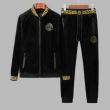VERSACEヴェルサーチ スーパー コピー着心地快適上下セットメンズブラック柔らかいジャケット定番デザインオシャレ男性ウェア