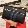 PRADAプラダ クラッチ バッグ コピー最安値品質保証メンズブラック本革ポーチ高級感に溢れたビジネス用バッグ