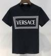 話題の夏季新作 VERSACE半袖tシャツスーパーコピーロゴ付き黒白2色ヴェルサーチ コピー クルーネック清潔感 定番にこそ上質 100%新品保証