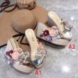 サンダル 2色可選 ミュウミュウ MIUMIU 春夏のマストバイのアイテム 19春夏最新モデル