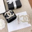 シャネル CHANEL ブレスレット シックなコーデを完成 レディース Cuff Transparent pearly white crystal コピー ブランド 最低価格