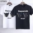 DSQUARED2 ディースクエアードTシャツコピー 激安 黒猫のヘッドプリント男女適用 黒白 純綿素材、柔らかく快適