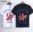 DSQUARED2 ディースクエアード コピー 激安 Tシャツ 半袖 キツネのアニマルプリント 唯一無二の存在感を放つ 黒白