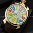 ガガミラノ腕時計 GaGaMILANO マヌアーレ クロノ 48 SS(PVD) サファイヤクリスタル風防 日本製クオーツ