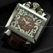 ガガミラノ腕時計 GaGaMILANO  日本製クオーツ 5針 男性用腕時計 グリーン インデックス  ステンレス ケース