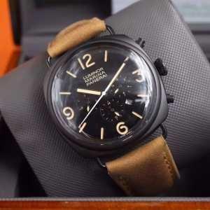 2016 ★安心★追跡付 PANERAI パネライ 6針クロノグラフ 日付表示 透かし彫りムーブメント 腕時計