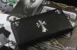 品質保証低価CHROME HEARTS クロムハーツ 財布 クロス 本革 レザー ラウンドファスナー カード札入れ 長財布 ブラック