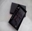 驚きの低価格CHROME HEARTS クロムハーツ 財布 スーパーコピー 革 レザー ラウンドファスナー ストラップ付き ウォレット