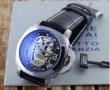 男性用腕時計 PANERAI パネライ 芸能人 時計 ルミノール 腕時計 コーティングガラス メンズ スカルデザイン レザーベルト