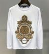 19春夏最新モデル ヴェルサーチ VERSACE 長袖Tシャツ 2色可選 しなやかでベーシックな1枚