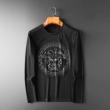 2色可選 2019秋冬の最旬コーデ術 ヴェルサーチ VERSACE 長袖Tシャツ 暖かく冬らしいコーデに変身