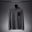ナチュラムなコーデを先取り ヴェルサーチ 長袖 メンズ VERSACE コピー Tシャツ ブラック グレー ロゴいり 通勤通学 セール