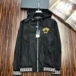 VERSACE Greek Key-trimmed hooded jacket スタイルを魅力的に映るアイテム ヴェルサーチ ジャケット メンズ コピー 相性抜群 安価