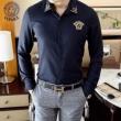 ヴェルサーチ シャツ メンズ 印象深いコーデにおすすめ VERSACE コピー ブラック ネイビー ロゴ トレンド おすすめ 最低価格