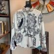 ヴェルサーチ シャツ サイズ トレンディに魅せるヒント VERSACE メンズ コピー ブラック ホワイト プリント 通勤通学 安価
