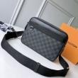 軽快な印象がポイント ルイヴィトン ショルダーバッグ Louis Vuitton メンズ コピー ブラック ストリート 安価 N40087