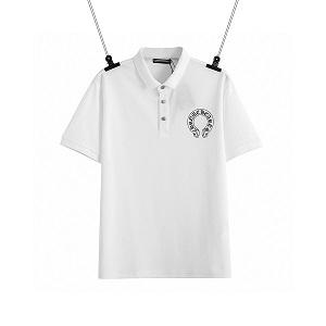 半袖Tシャツ いつもの着こなしをトレンドに変化 クロムハーツ CHROME HEARTS プリントポロTシャツ 激安 偽物