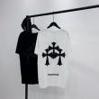 2021SS夏っぽさ新作CHROME HEARTS 丸首ネックTシャツコピー 純綿素材、柔らかく快適 黒白