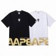 夏大人気のアイテムベイシング エイプ A BATHING APE Tシャツコピーゴールデンレター印刷 シンプルで質感のある